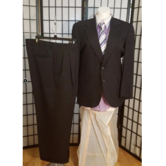 Tailors Row Deansgate Other - Tailors Row Deansgate Charcoal Worsted Wool Suit